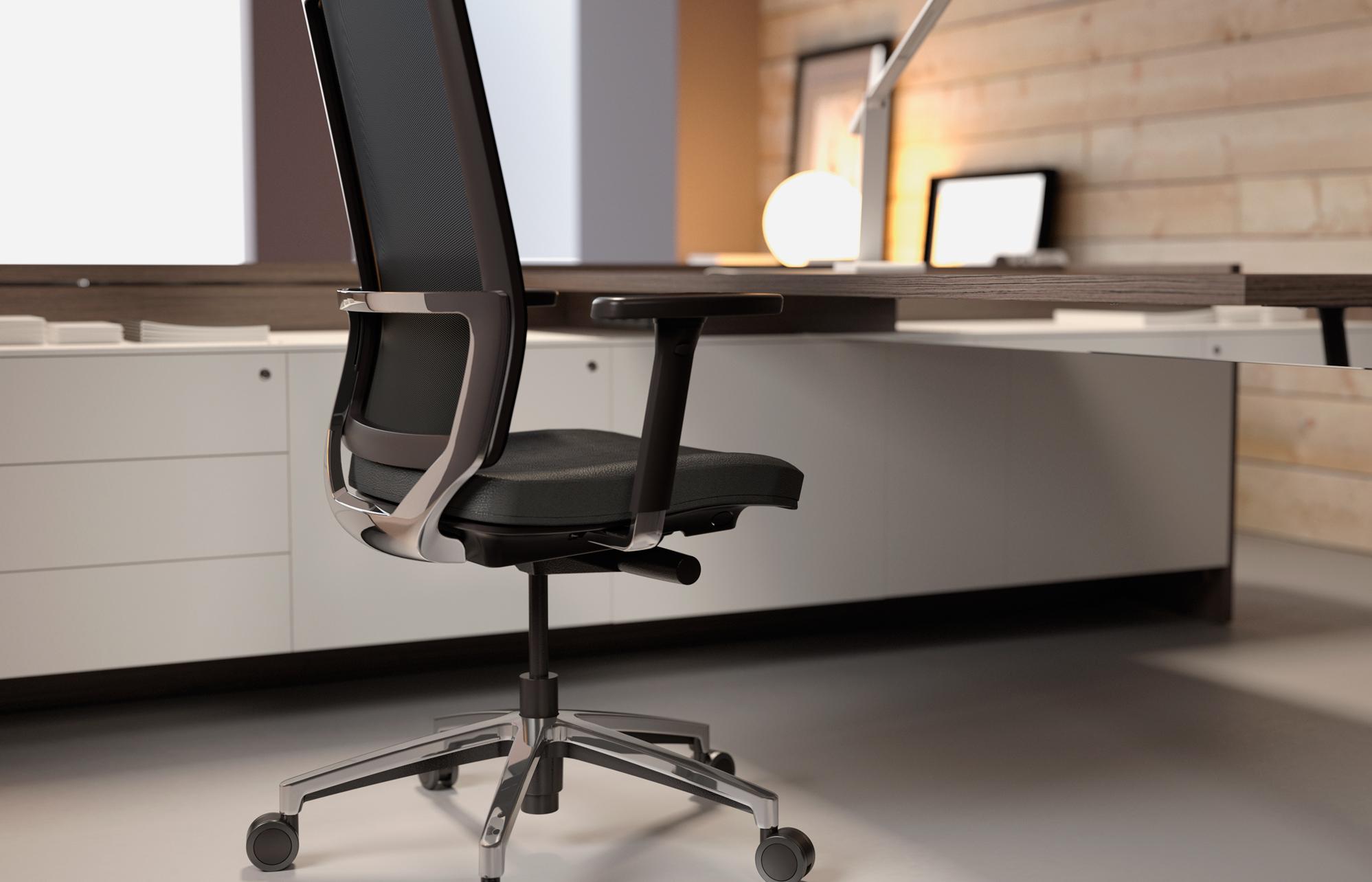 silla de oficina operativa 2k8 de forma 5 muebles syl